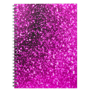 ピンクのグリッターの螺線形ノート ノートブック
