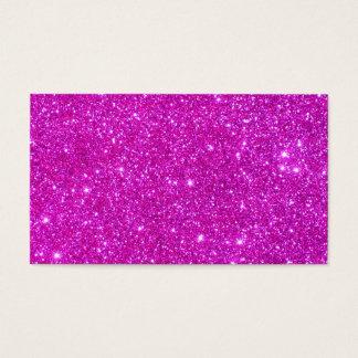 ピンクのグリッターの輝きのカスタマイズ可能なデザイン 名刺