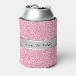 ピンクのグリッターの銀の勾配のアクセント 缶クーラー