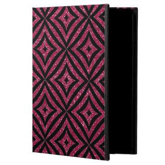 ピンクのグリッターの黒パターンガーリーなiPadの場合 iPad Airケース