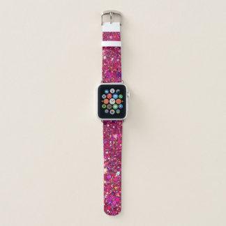 ピンクのグリッターのAppleの時計バンド Apple Watchバンド