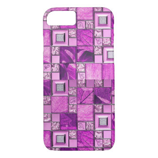 ピンクのグリッターはpatterntのiPhone 7の箱をタイルを張ります iPhone 8/7ケース