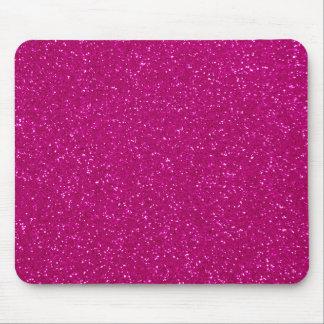 ピンクのグリッター マウスパッド