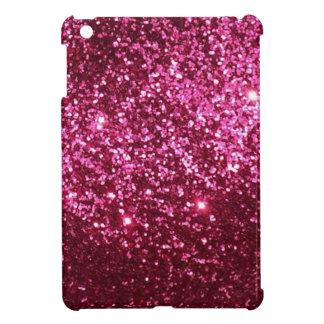 ピンクのグリッター iPad MINI カバー