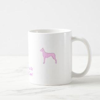 ピンクのグレートデーン コーヒーマグカップ