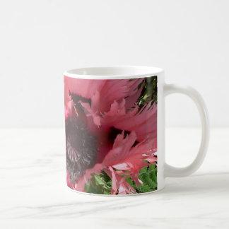 ピンクのケシ愛 コーヒーマグカップ
