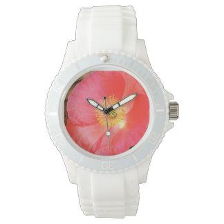 ピンクのケシ 腕時計