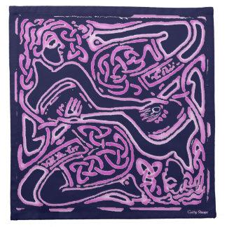 ピンクのケルト語によって編まれる女性ナプキン ナプキンクロス