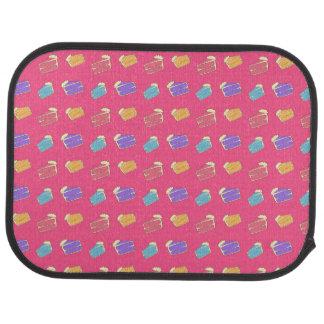 ピンクのケーキパターン カーマット