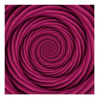 ピンクのコイル状ケーブルはZazzleポスターを完成します ポスター