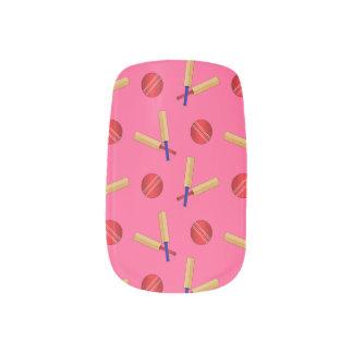 ピンクのコオロギパターン ネイルアート