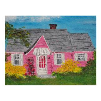 ピンクのコテージ ポストカード