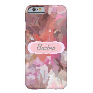 ピンクのコラージュ、iPhone6ケースのあなたの名前 Barely There iPhone 6 ケース