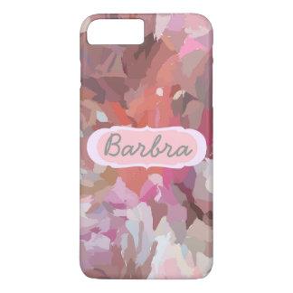 ピンクのコラージュ、iPhone 7のプラスの場合のあなたの名前 iPhone 8 Plus/7 Plusケース