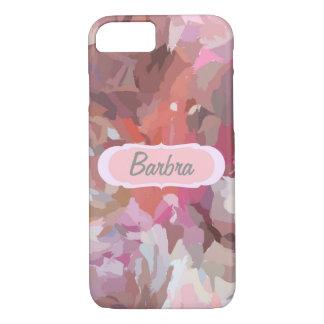 ピンクのコラージュ、iPhone 7の場合のあなたの名前 iPhone 8/7ケース