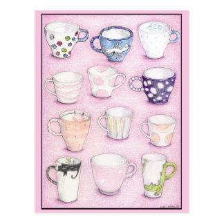 ピンクのコレクションの郵便はがき ポストカード