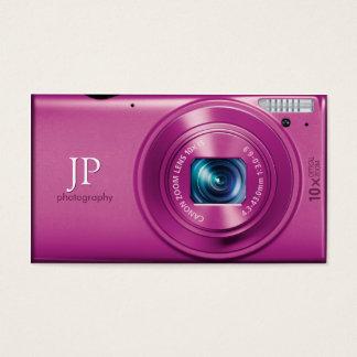 ピンクのコンパクト・カメラのカメラマン 名刺