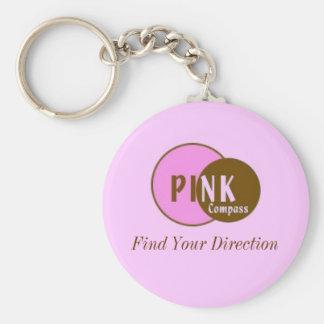 ピンクのコンパスのキーホルダー キーホルダー