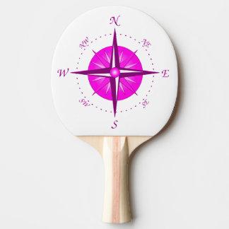 ピンクのコンパス面図 卓球ラケット