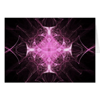 ピンクのゴシック様式プリンセスのフラクタルの挨拶状 カード