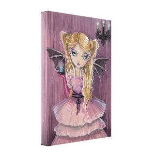 ピンクのゴシック様式吸血鬼のキャンバスのプリントのAdeline キャンバスプリント