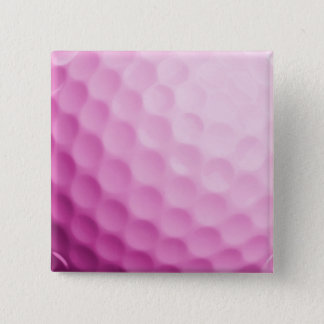 ピンクのゴルフ・ボールの背景によってカスタマイズテンプレート 5.1CM 正方形バッジ