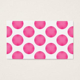 ピンクのゴルフ・ボールパターン 名刺