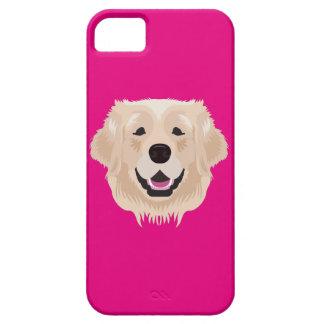ピンクのゴールデン・リトリーバー iPhone 5 ケース