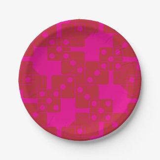 ピンクのサイコロ ペーパープレート