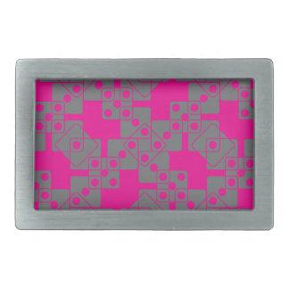 ピンクのサイコロ 長方形ベルトバックル