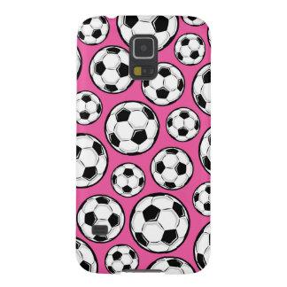 ピンクのサッカー GALAXY S5 ケース