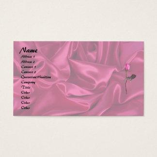 ピンクのサテンのハート! 名刺