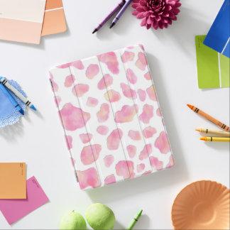 ピンクのサファリ-ピンクのヒョウのiPadの頭が切れるなカバー iPadスマートカバー