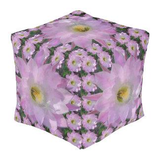 ピンクのサボテンの花 プーフ