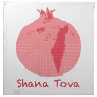 ピンクのザクロShana Tova ナプキンクロス
