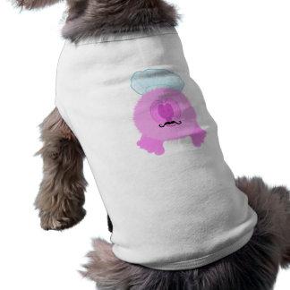 ピンクのシェフのPom Pomの友達犬のティー ペット服