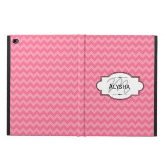 ピンクのシェブロンのストライプでカスタムなiPadの場合 Powis iPad Air 2 ケース
