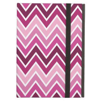 ピンクのシェブロンのストライプなiPadの空気箱[kickstand無し] iPad Airケース