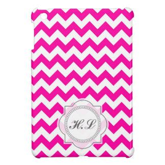 ピンクのシェブロン iPad MINI カバー