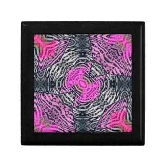 ピンクのシマウマの抽象芸術 ギフトボックス