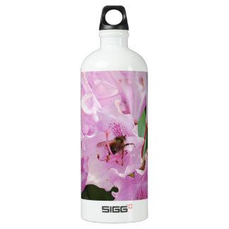 ピンクのシャクナゲおよび蜂 ウォーターボトル