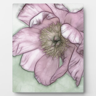 ピンクのシャクヤクの花のスケッチ フォトプラーク