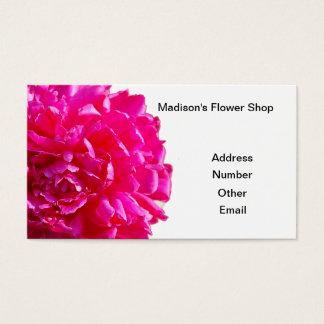 ピンクのシャクヤクの花の名刺 名刺