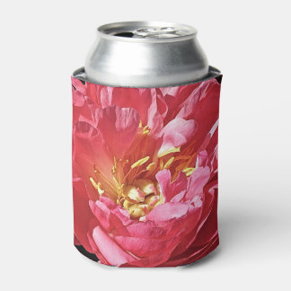 ピンクのシャクヤク、クーラーボックス 缶クーラー