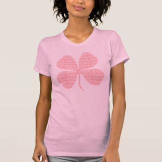 ピンクのシャムロックアビゲイル Tシャツ