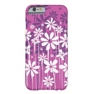 ピンクのシンプルできれいな活気付く花柄 BARELY THERE iPhone 6 ケース
