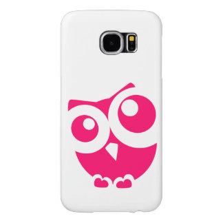 ピンクのシンプルなフクロウ SAMSUNG GALAXY S6 ケース