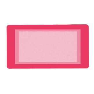 ピンクのシンプル ラベル