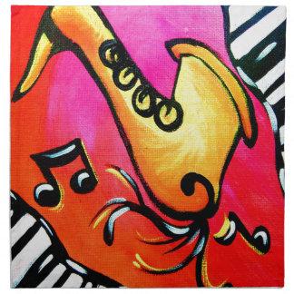 ピンクのジャズ音楽 ナプキンクロス