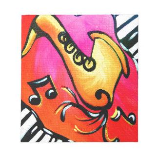 ピンクのジャズ音楽 ノートパッド